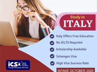 Guaranteed Scholarship Study in Italy