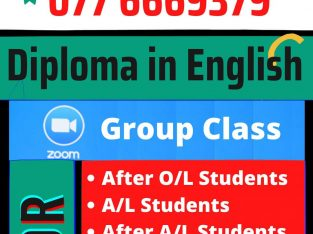 Diploma in English Zoom Group Class Manipay